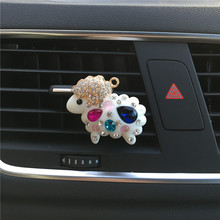 Metal sheep molding Auto air conditioner perfume Ornaments Colorful sheep air freshener Ladies car styling perfume Clip