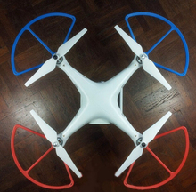 4Pcs/lot Propeller Prop Protective Guard Bumper Protector for RC Helicopter  Phantom Vision 2 Quadcopter Red + Blue
