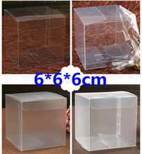 50pcs 6*6*6cm PVC Plastic box with Buttom / Cupcake boxes / packing box / pvc box /Soap Gift / 100% guarantee / gifts & crafts