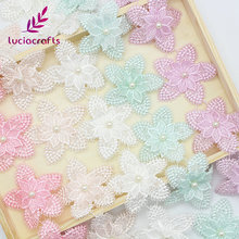 Lucia crafts 1y/lot Flower Embroidery Lace Fabric Trim Ribbons DIY Sewing Garment Handmade Materials Accessories 050025096