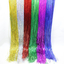 New Curtain Foil Metallic Foil Fringe Shimmer curtain  wedding birthday party Christmas New Year activities Party decoration