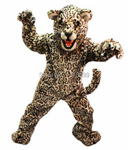 mascot Leapin' Leopard jaguar panther mascot costume fancy dress fancy costume cosplay theme mascotte carnival costume kits(China)