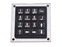 Mini Metal Numeric Keyboard with 16keys Black Stainless steel keyboards matrix keypads 54x54mm