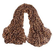 60*160CM NEW women Autumn Leopard Scarves Shawl Chiffon Scarf