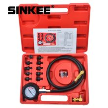 12 piece Engine Oil Pressure Test Kit Tester Car Garage Tool Low Oil Warning Devices SK1267(China)