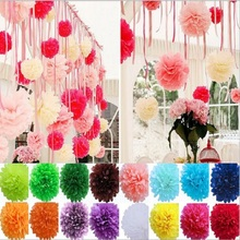 10,15,20,25,30,35cm 4,6,8,10,12,14inch Tissue Paper Flowers balls lantern for Birthday Wedding Party Decor gift craft DIY favor(China)