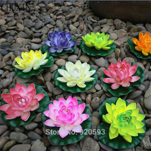 NEW 10cm EVA real touch flowers artificial flowers silk flower lotus pond decorate home decoration