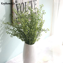 Keythemelife 1 Pcs Artificial Plants Fake Leaf Caltha Palustris Wedding Decoration Home Decor Party Holiday Ornaments FA