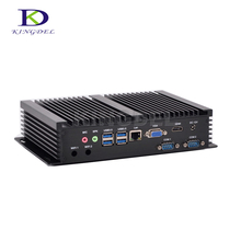 Best price Kingdel Mini PC desktop Intel Core i5 4200U/i7 5550U HDMI USB 3.0 VGA 2*COM RS232 Embedded PC