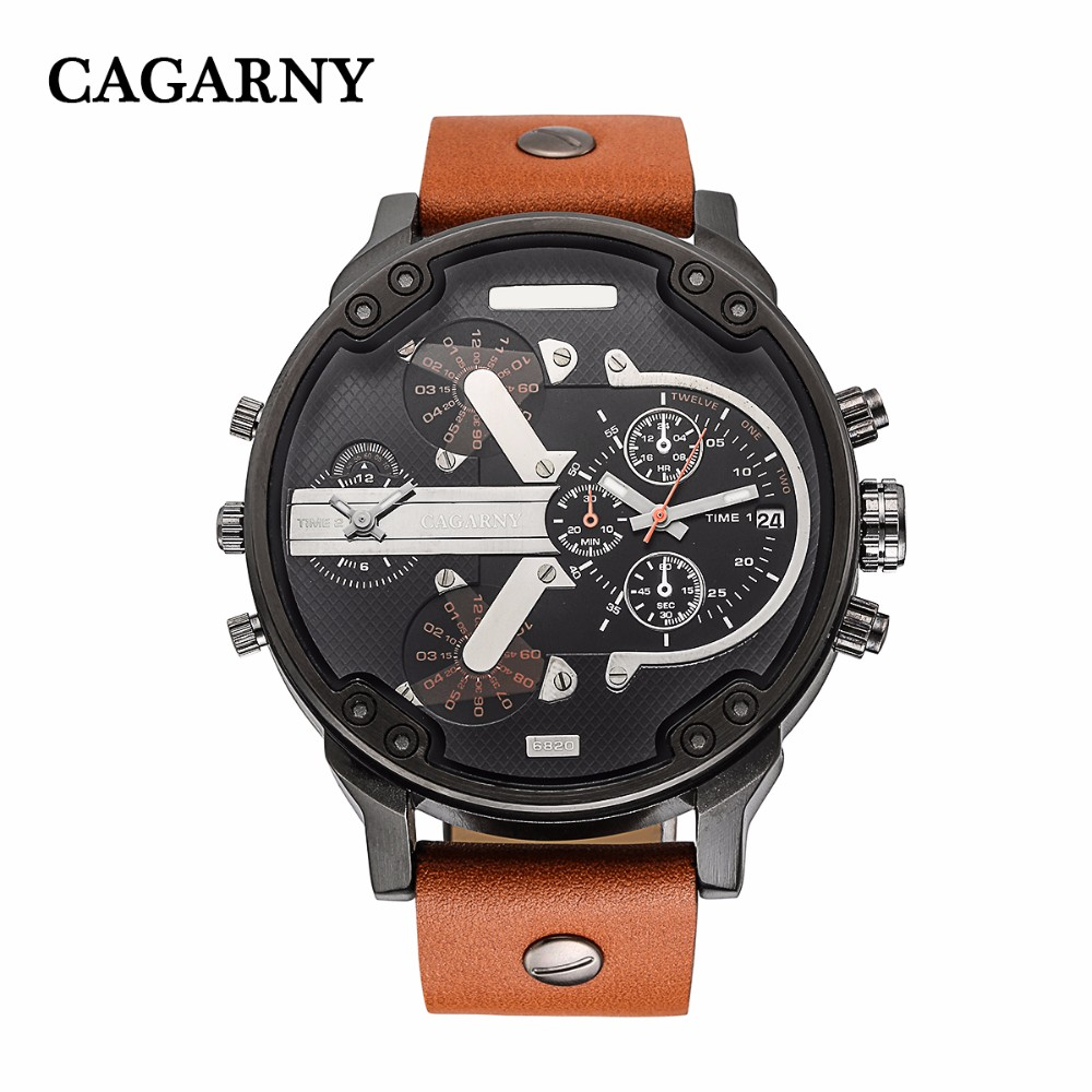 2017 Luxury brand mens sports calendar military quartz watch leather strap rest fashionable mens watch relogio Matthew<br>