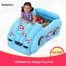 Inflatable Swimming Pool car shape water play ball pool Eco-friendly PVC Safety Baby Child air Float kids Toys free shipping(China)