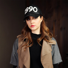 1990 Digital Decorating Fashion Baseball Cap Man Hiphop Caps PU Sporting Adult Golf Hat White Winter Adjustable Hats Wholesales