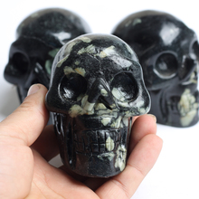 2016 Hotsale Natural Qutarz healing crystal Gemstone skull head for gift and decoration(China)