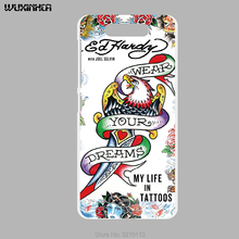 WUXINHCA For ZTE Blade V8 case Ed hardy Painted Print plastic Hard Cover For Zte V8 Protect cellphone case(China)