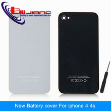 High Quality Back Cover Door Rear Panel Plate Glass Housing For iPhone 4 4G 4S Battery Cover Replacement white Tools