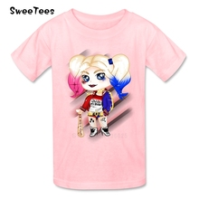 Suicide Squad T Shirt Kid Cotton Toddler Round Neck Baby Tshirt Children Infant Clothing 2017 Harley Quinn T-shirt For Boy Girl