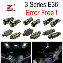 14pc X free shipping Error free E36 LED Interior Light Kit for bmw E36 M3 318 323 325 328 Sedan coupe (1992-1998))