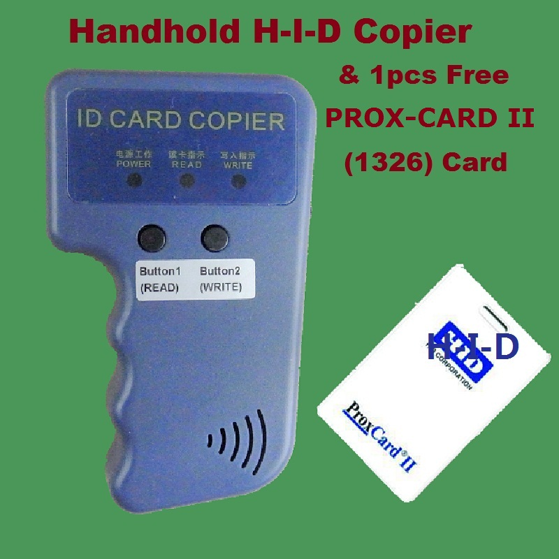 Handhold Portable 125khz RFID H-ID PROX-CARD PROX-KEY Card Reader Writer Copier Duplicate Duplicator Compatible EM4305 T5577<br>