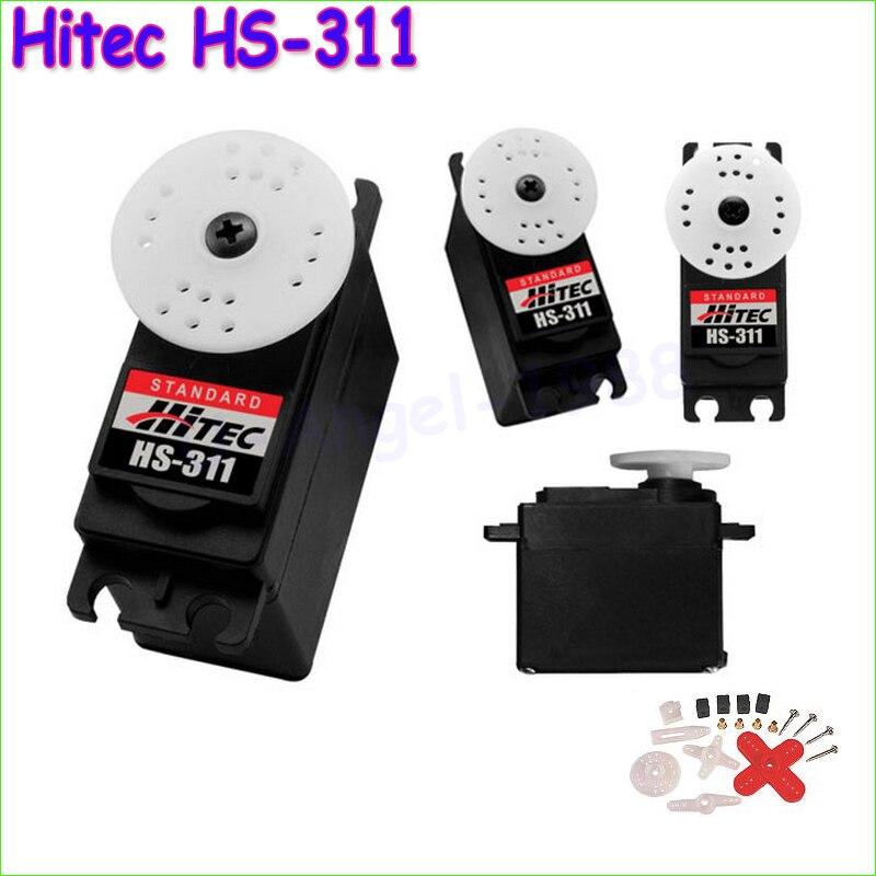 4pcs/lot 100% Original NEW Hitec HS-311 Standard Steering Engine Standard Economy Servo Drop free shipping<br><br>Aliexpress