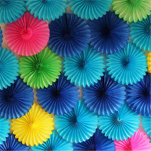 15cm 20cm 30cm 1pcs Paper Fans Hand For Wedding Decorations Birthday Party Kids Happy Table Flowers Marriage  New Year Favors