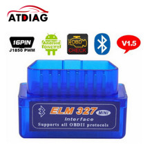 Super Mini Elm327 Bluetooth OBD2 V1.5 Elm 327 V 1.5 Android Adapter Car Scanner OBD 2 Elm-327 OBDII Auto Diagnostic Tool Scanner(China)