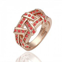 [Color retention gold] high-end jewelry store to purchase the site rose Classic Cross Ring 1196(China)