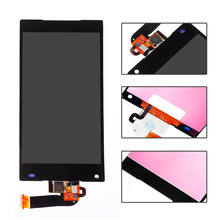 "4.6"" white black lcd display touch screen digitizer full assembly replacement part  For SONY Xperia Z5 Compact Mini E5803 E5823"