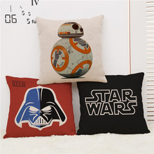 star wars cartoon black red pattern robot home Sofa coffee shop hotel Home chair Cushion Cover Decoration Pillow Case for gift(China)