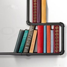 Vintage Iron Pipe Books Shelf Storage Shelving Home Study Books Holder Organizer Storage Supplies Industrial Urban Style Rack