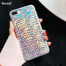 Kerzzil Cool Laser Shining Crocodile Texture Cases For iphone 7 6 6s Plus Colorful Snake PU Leather Cover For iPhone 6 7 6S PLus(China)