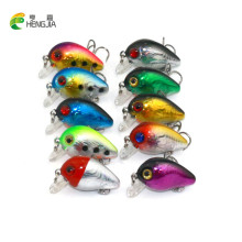 10PCS small crankbait 3CM 1.6G isca artificial 3d eye fishing lure hard bait fishing wobblers 10#hooks Japan lures HENGJIA(China)
