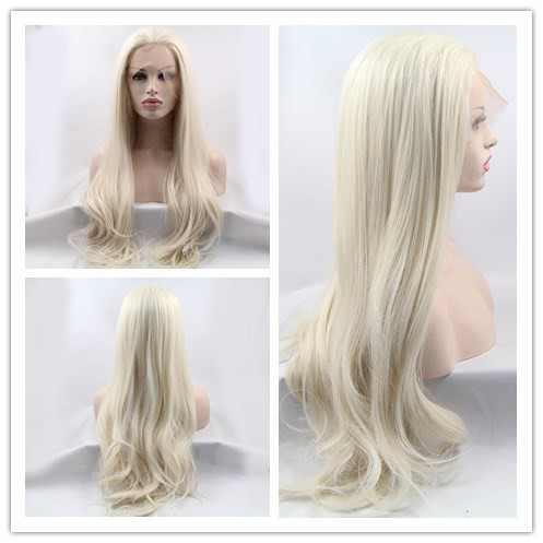 60#blonde synthetic lace front wigs long sliky straight wig for women heat resistant fiber hair free shipping<br><br>Aliexpress