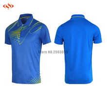 2016 2017men breathable polo T shirt badminton shirts high quality shirts new style 4 colors jerseys badminton sportwear clothes