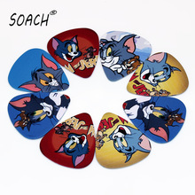 SOACH 10PCS 0.71mm high quality guitar picks two side pick ukulele picks earrings DIY Mix picks guitar