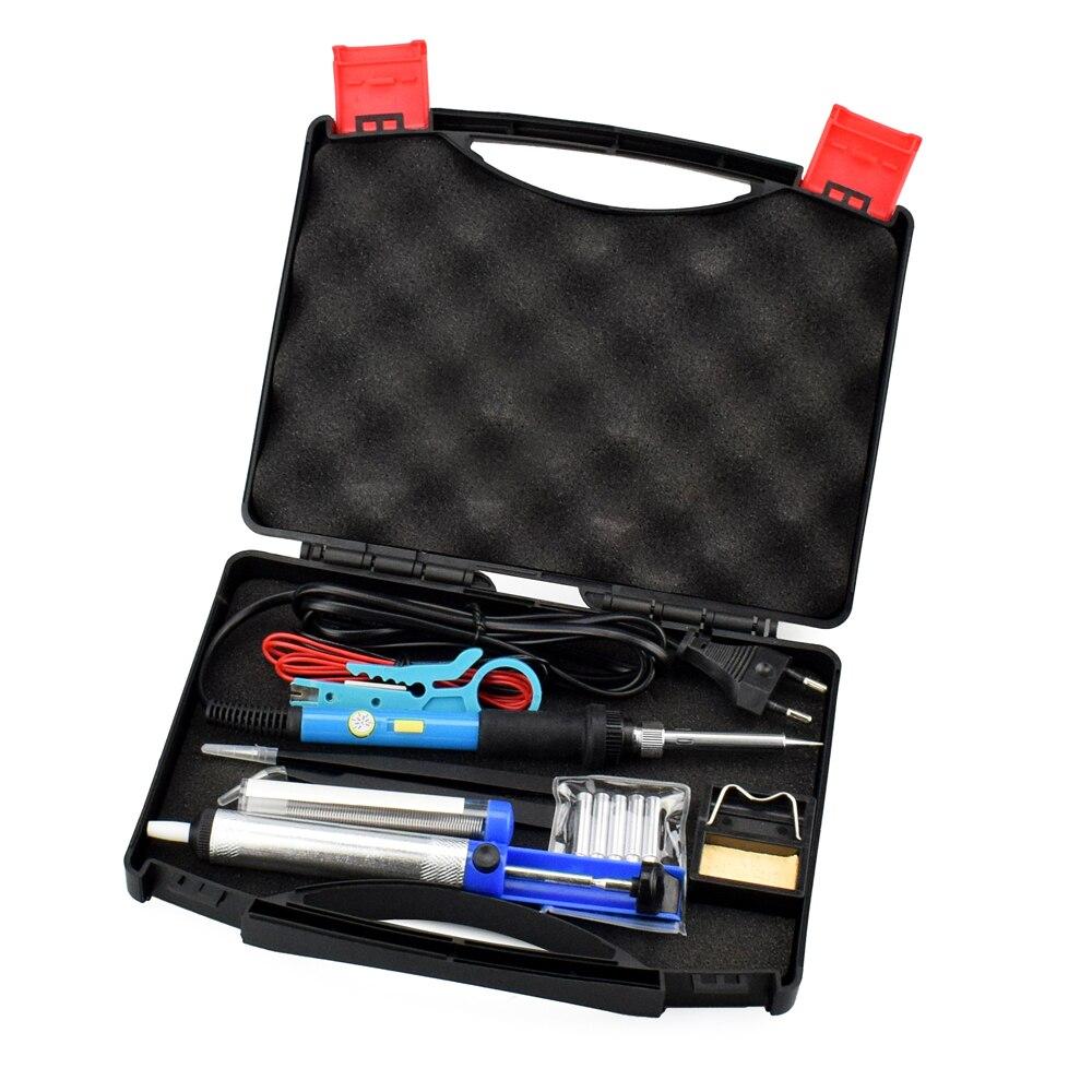 220V 60W 9-1 Kit de Fer /à Souder Electrique Pointe de fer /à Souder Fer /à Souder Kit de Soudage avec LCD Ecran Temperature R/églable de 180-480℃,Pompe /à dessouder