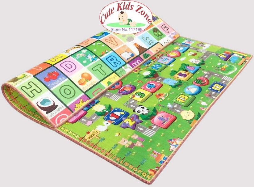 10 mm Thick Double Sides Children Play Mat Waterproof Kids Beach Picnic Mat Soft Eva Foam Carpet Rug Baby Crawling Mat Baby Toy 20