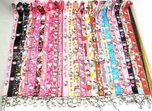 Free Shipping 10 Pcs Popular Mix Hello Kitty key chain Mobile Phone Neck Straps Keys Camera ID Card Lanyard