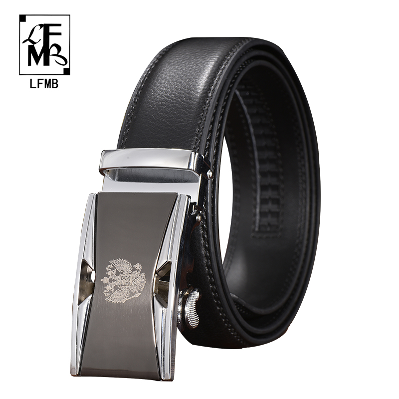 [LFMB]automatic belt automatic men belt automatic buckle leather belt ceinture homme automatic belt buckle genuine leather mens(China)
