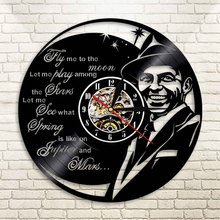1Piece Frank Sinatra Singer Led Vinyl Clock Wall Light Color Change Vintage Backlight Modern Handmade Clock Cool Home Decorative