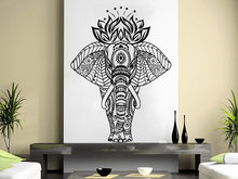 Buddha Ganesh Om Sign Wall Decal  Lotus Indian Elephant Floral Patterns Living Room Bedding Art Interior Adhesive Decor SYY306
