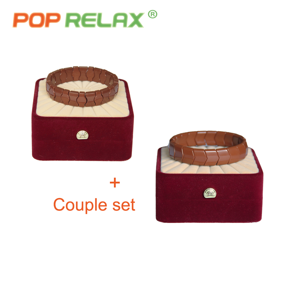 POP RELAX Korea tourmaline germanium bracelet for couples new fashion health care anion stone jewelry bracelet physical therapy<br>