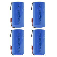 4PCS Sub C 2500mAh 1.2V Ni-CD Rechargeable Battery Tabs Power Tools RC Pack Blue