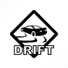 15X15CM DRIFT Road Sign Originality Vinyl Decal Black/Silver Motorcycle Car Sticker S8-0349