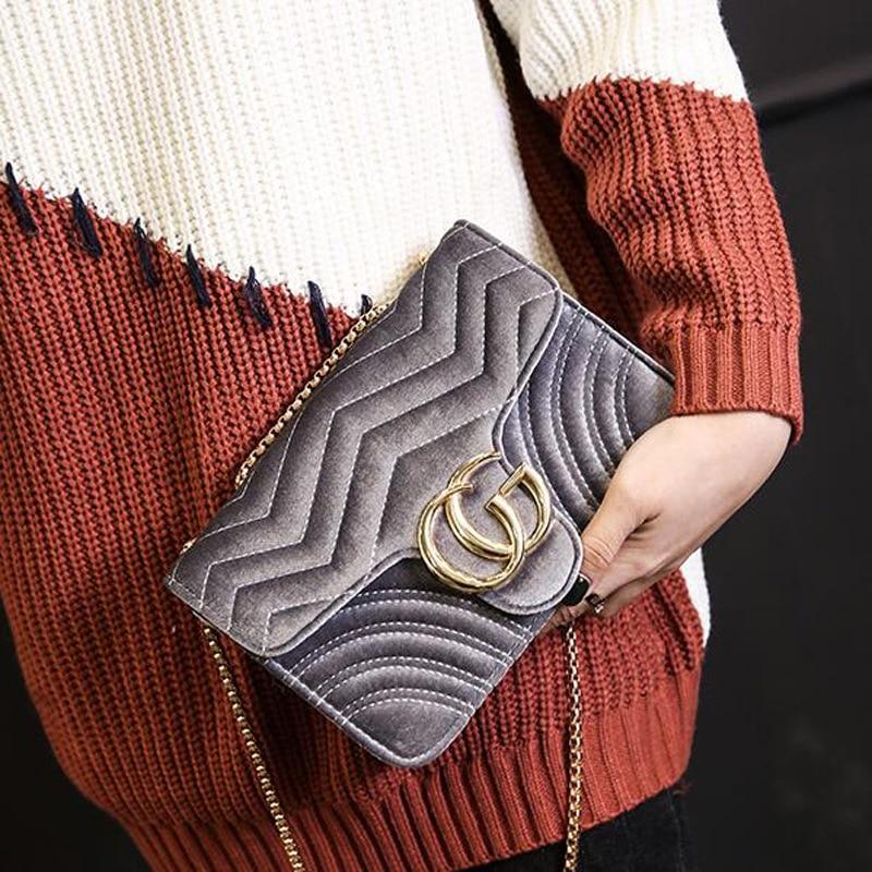 New Style Big Brand Totes Velvet Handbags Shoulder Bag Messenger Bag High-quality Metal Diamond Official Website Synchronization<br>