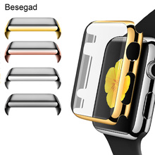 Besegad Full Coverage Screen Protector Guard Film Case Cover Shell Bumper for Apple Watch iWatch Series 1 2 38mm 42mm Gadgets