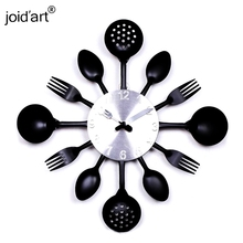 2017 new special offer Modern wall clock knife kitchen clocks watch decorationQuartz Needle Europe  metal