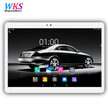 Newest 10.1 inch tablet pc Android 7.0 octa core RAM 4GB ROM 32/64GB Dual SIM Bluetooth GPS 1920*1200 IPS tablets free shipping(China)