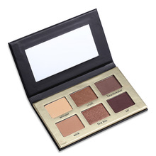 Eye Shadow Palettes Glitter Eyeshadow Set Palette Naked Matte Bronzer Makeup Pallete 6 Color(China)