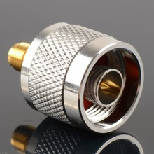 1pc Adapter N Plug Male Nickel Plating To SMA Female Gold Plating Jack RF Connector Straight(China)