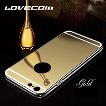 LOVECOM Ultra Slim Shine Luxury Mirror Soft TPU Phone Cases Accessories For Iphone 4 4S 5 5S SE 6 6S Plus 7 Plus  Back Cover